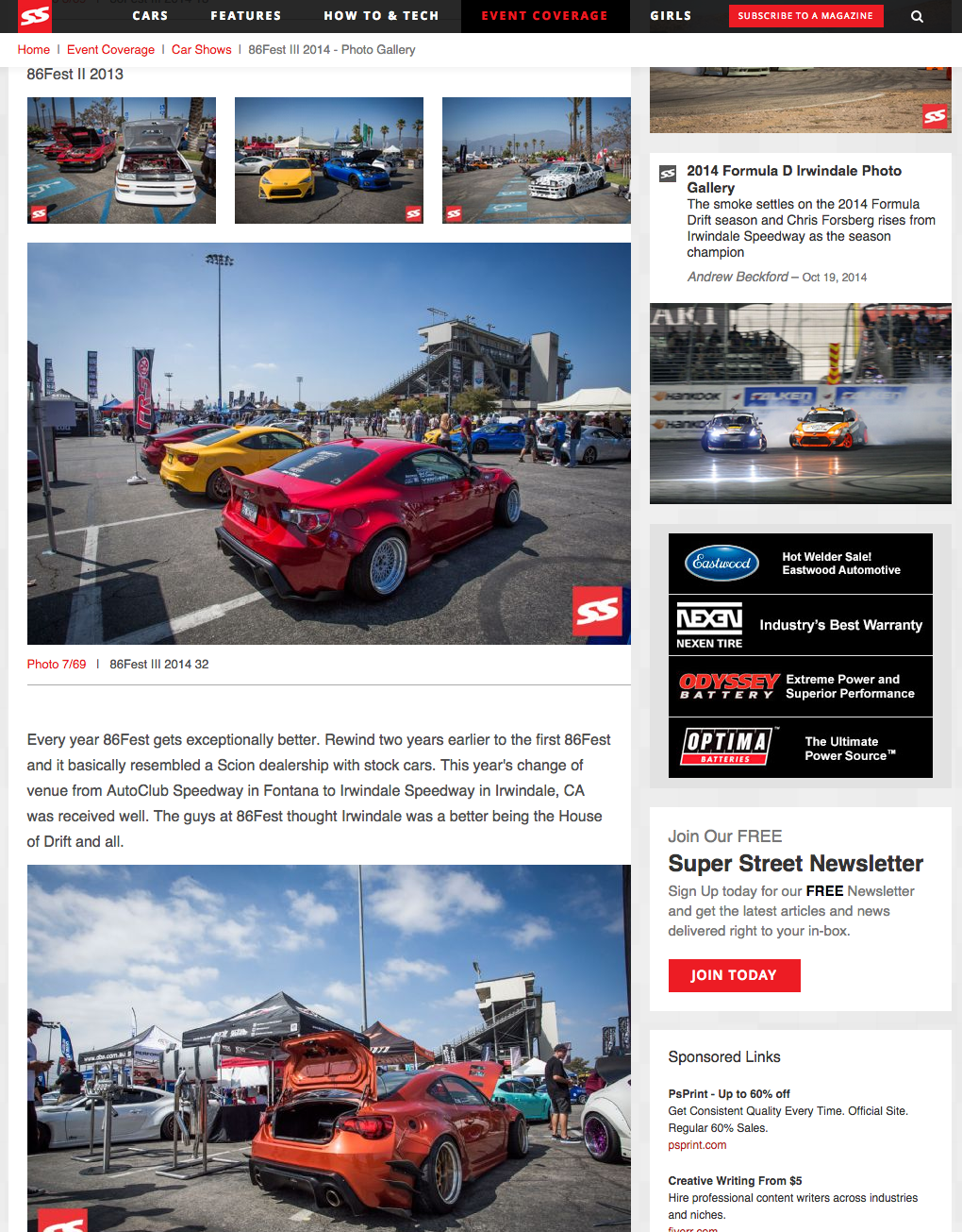 Super Street, 86FEST, Irwindale Speedway, Turn14, Turn 14, Scion FRS, FRS, BRZ, AE86