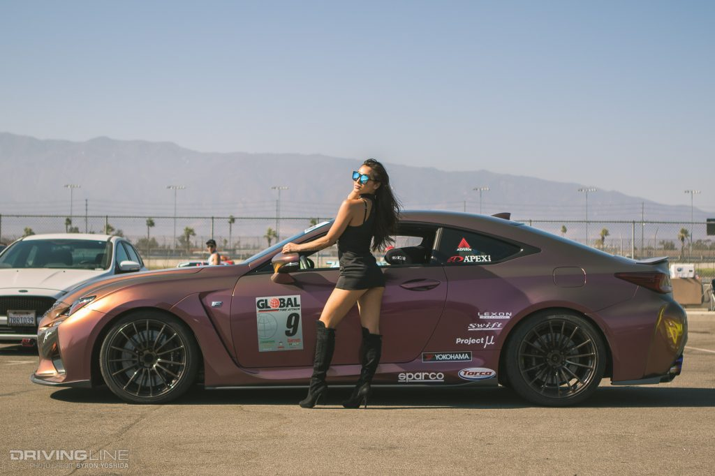 Amy Fay, Lexus, RCF, Yokohama Tire, Apexi USA, Weds Wheels