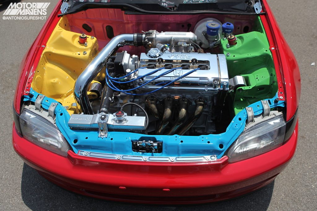 EG6 B16 Civic engine bay