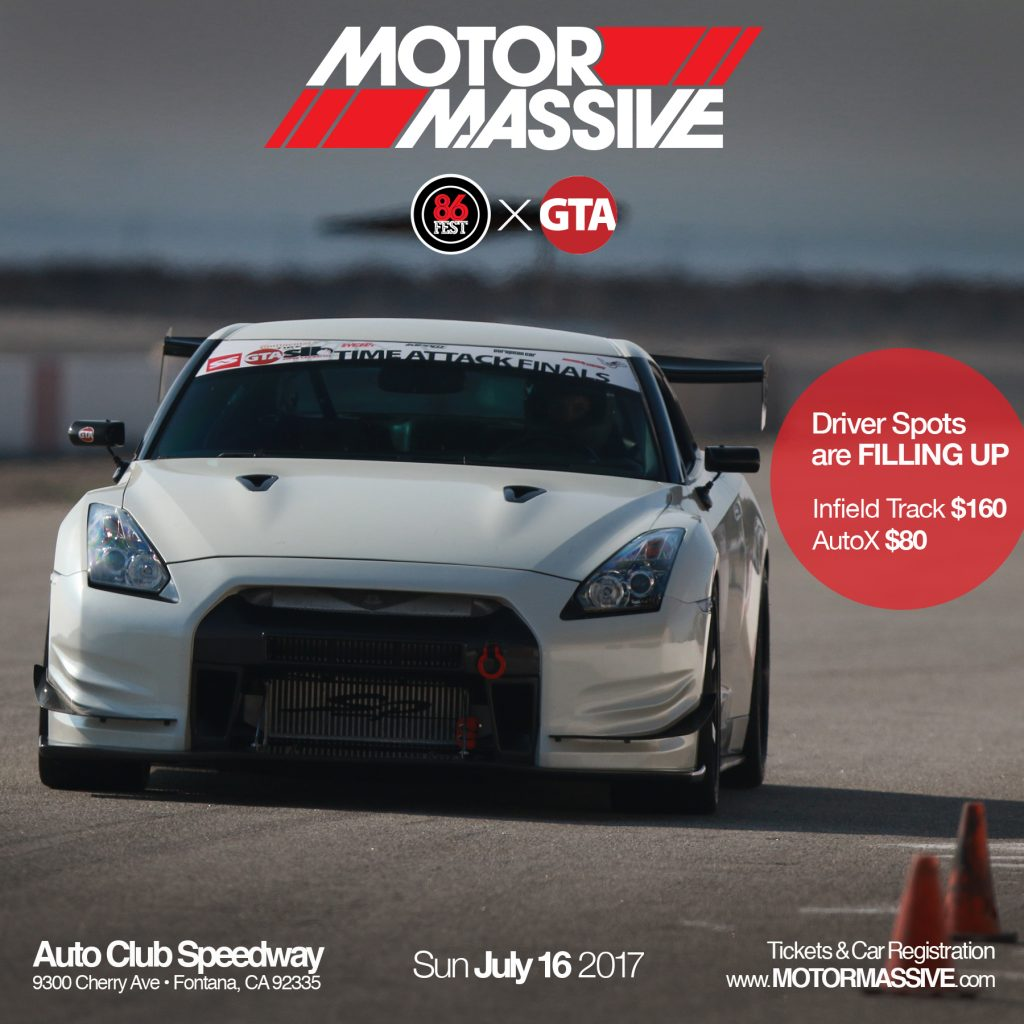 MotorMassive, DRIVER registration, global time attack, 86fest