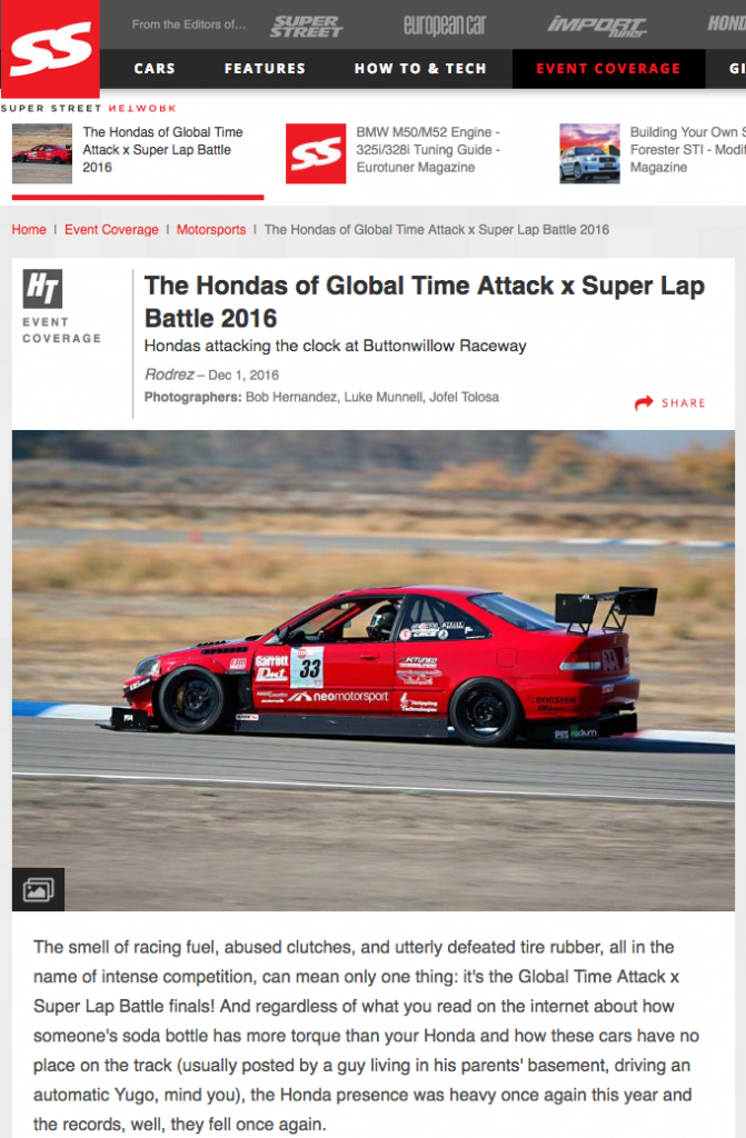 Honda, Honda Tuning, Super Street, Global Time Attack Series